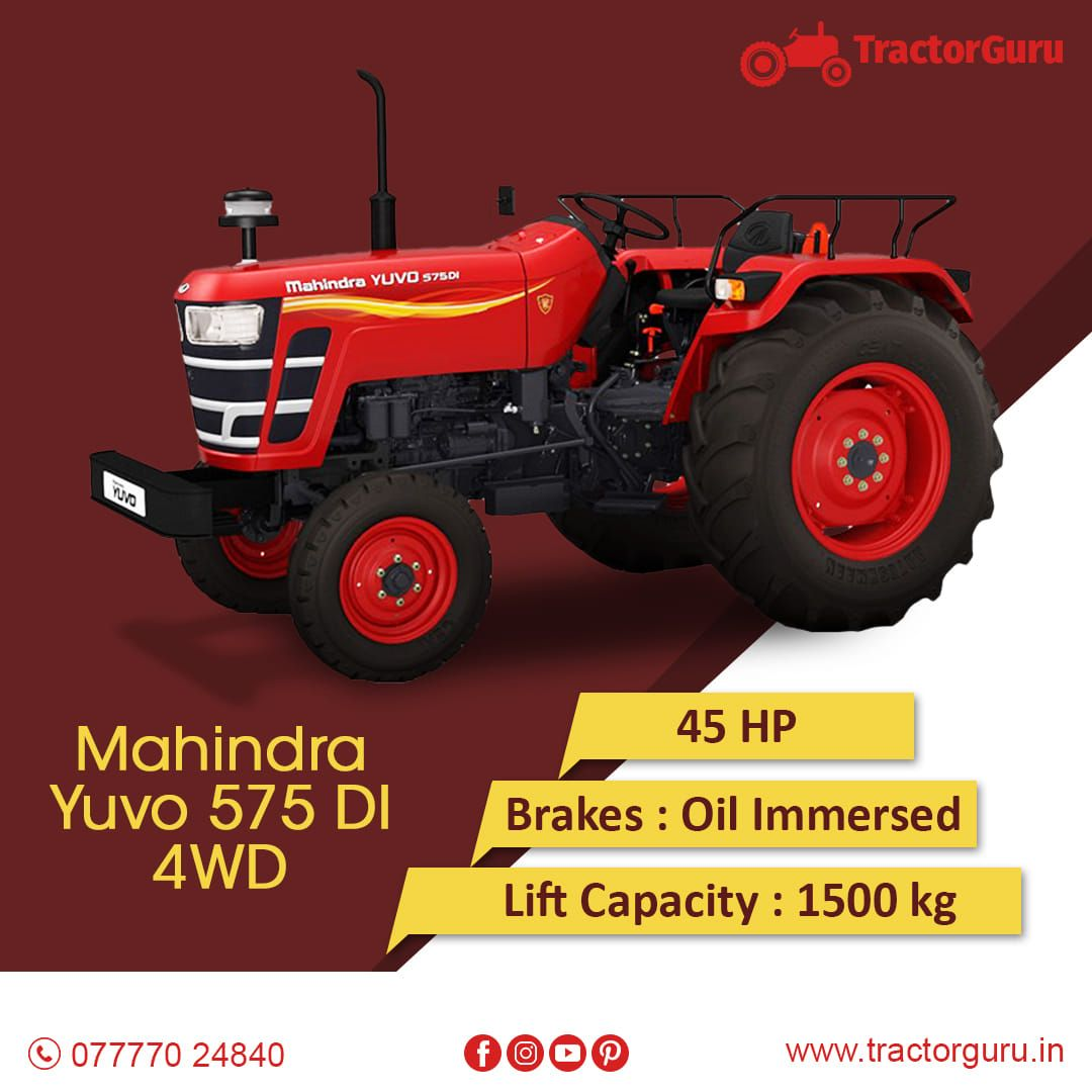 Hp 45 Hp Lift Capacity 1500kg For More Detailed Information Visit Https Tractorguru In Tractor Mahindra Y Tractors Reverse Gear Mahindra Tractor