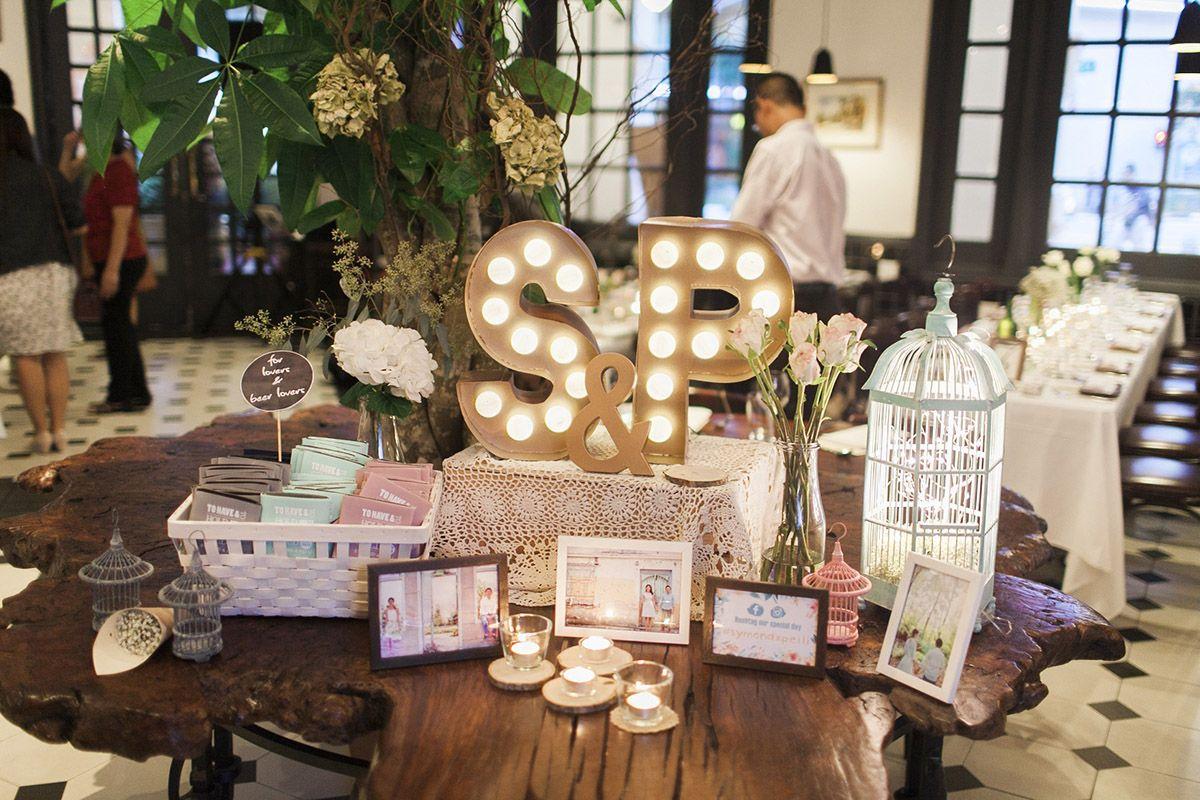 Image result for wedding reception idea singapore Rustic