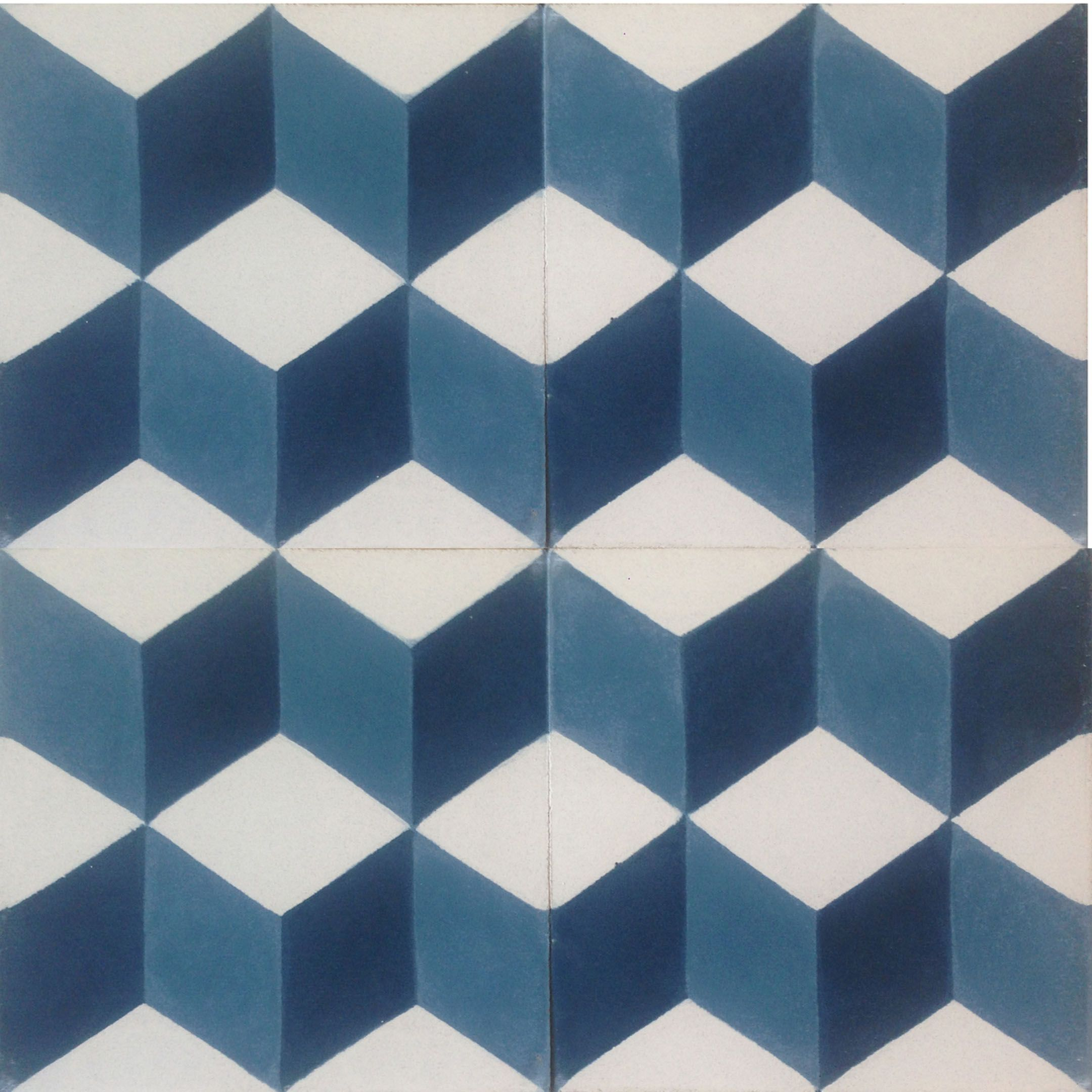 Tile company: lots of tiles incl. Geometric Midnight Blue Encaustic ...