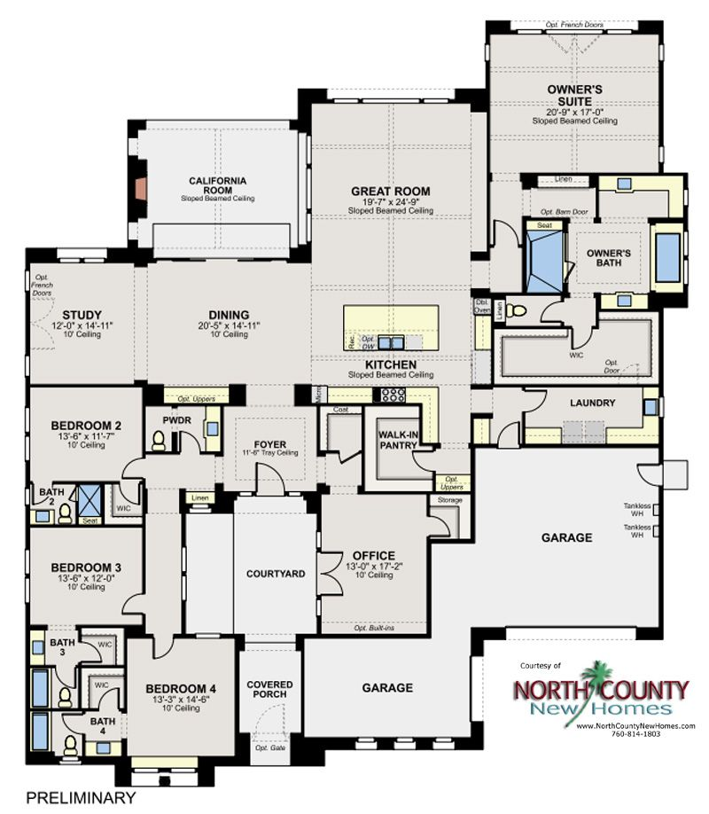 Artesian Estates New Homes In Del Sur North County New Homes Family House Plans Home Design Floor Plans Dream House Plans