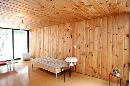 Knotty Pine Paneled Living Room   A Way To Deal With Existing Wood Paneling.