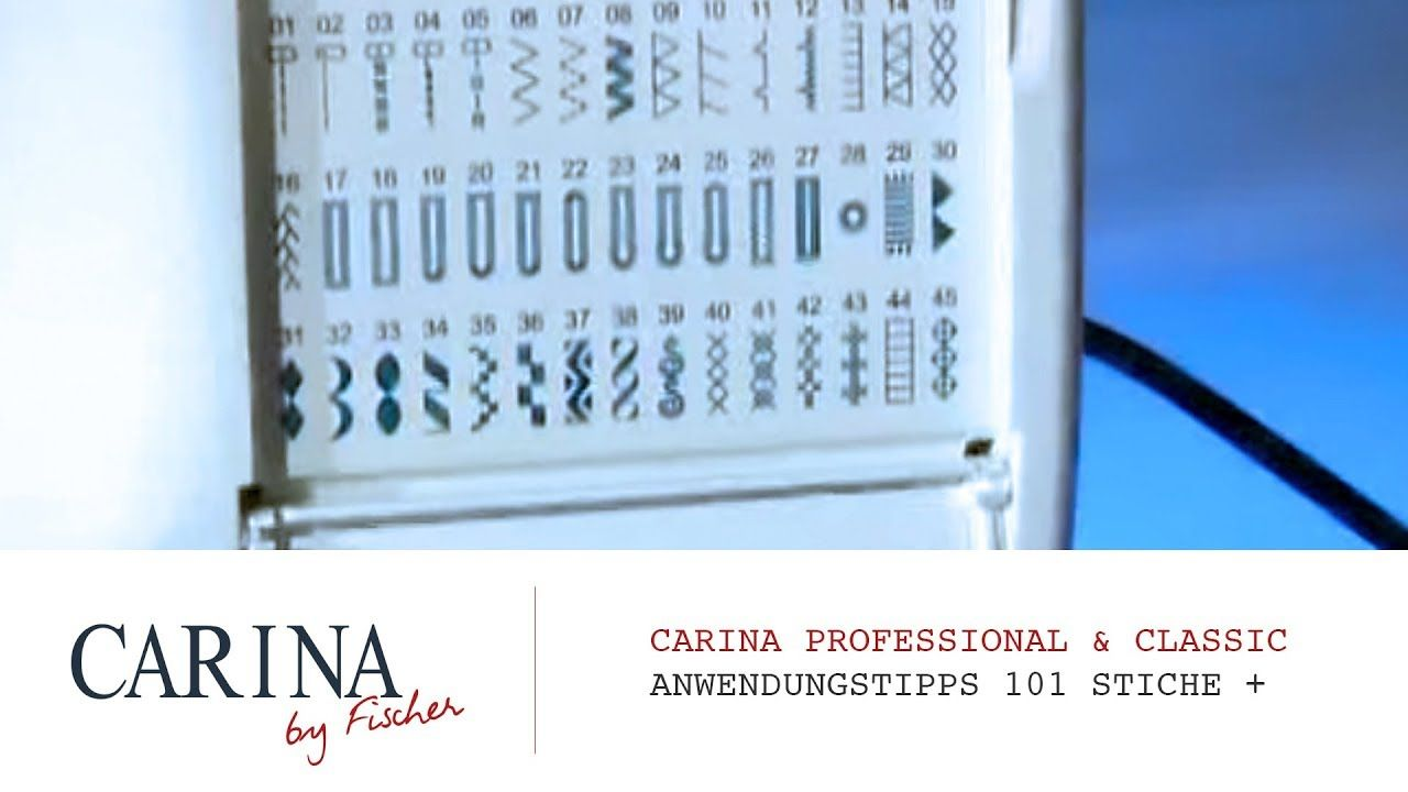 Carina Professional 101 Stiche Carina Spezial In 2020 Carina Nahmaschine Stiche Carina