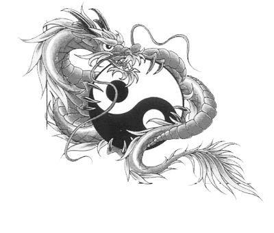 Dragon With Yin Yang Tattoo Design | Tattoos | Pinterest | Tattoo ...