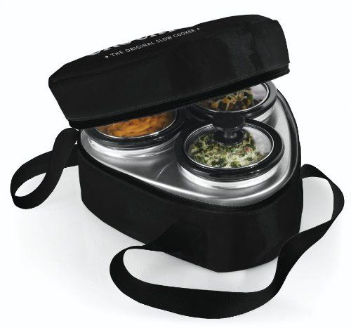 A Kitchen Is Launching An Express Lunch Service: Crock-Pot 16-Ounce Little Triple Dipper, Perfect Leftover