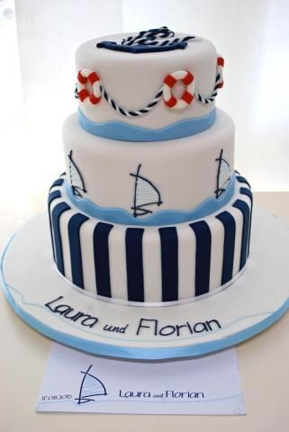 Hochzeitstorte Maritim Wedding Pinterest Cake Torte And Fondant