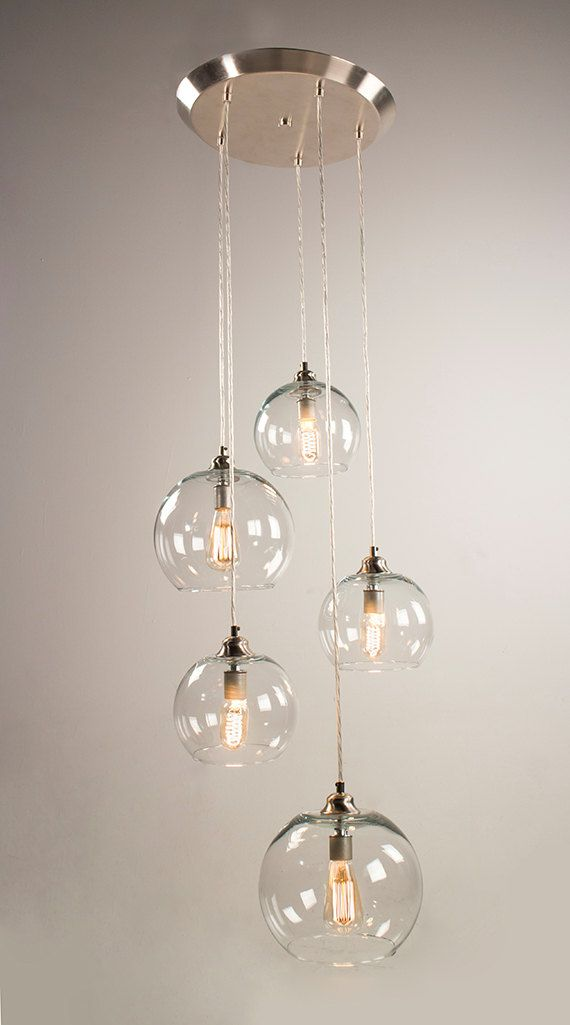 5 - Port Canopy Hanging Light Fixture - Brushed Nickel Finish | Mid ...