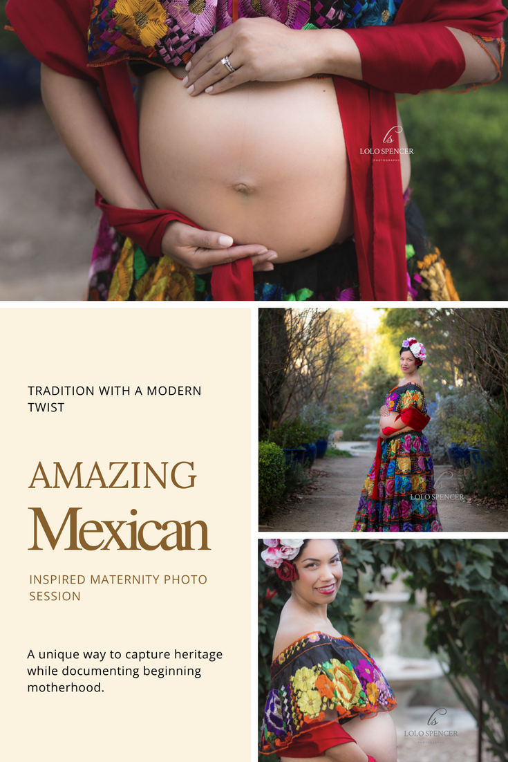 3f4cb24ad4aee Inspired Mexican maternity photo session celebrating tradition and the  beauty of motherhood.