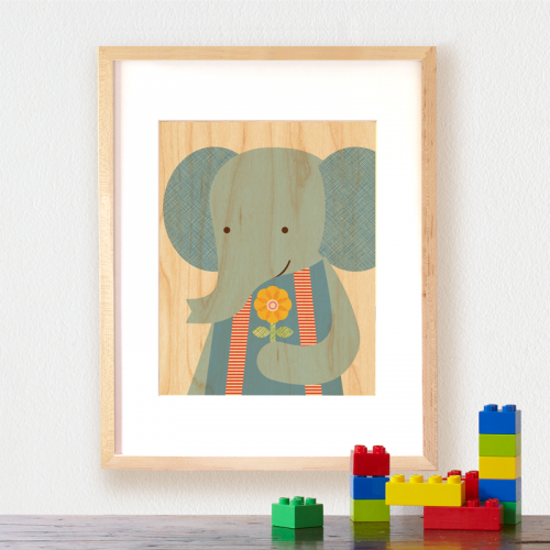 petite collage elephant