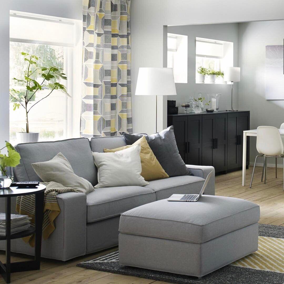 Ikea Kivik sofa and ottoman Kivik sofa, Sofa styling