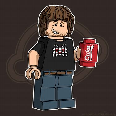 This pop-art is done by Powerpig, a worldwide known lego geek and graphic designer. Coke + Lego = Ultimate geek! Enjoy.