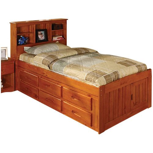 found it at wayfair kaitlyn captain twin bed with storage and trundle