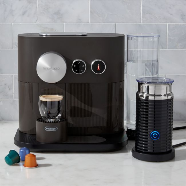 Nespresso by De'Longhi Expert Espresso Maker Bundle | Crate and Barrel #espressomaker