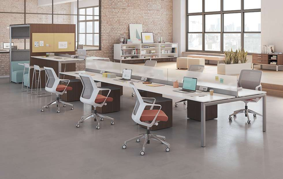Desks And Workstations Interior Investments Used Office Furniture Modern Office Space Furniture