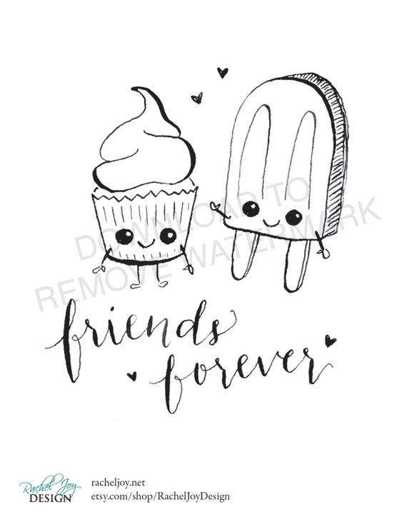 Friends Forever Cupcake Popsicle Coloring Page Plus Bonus How