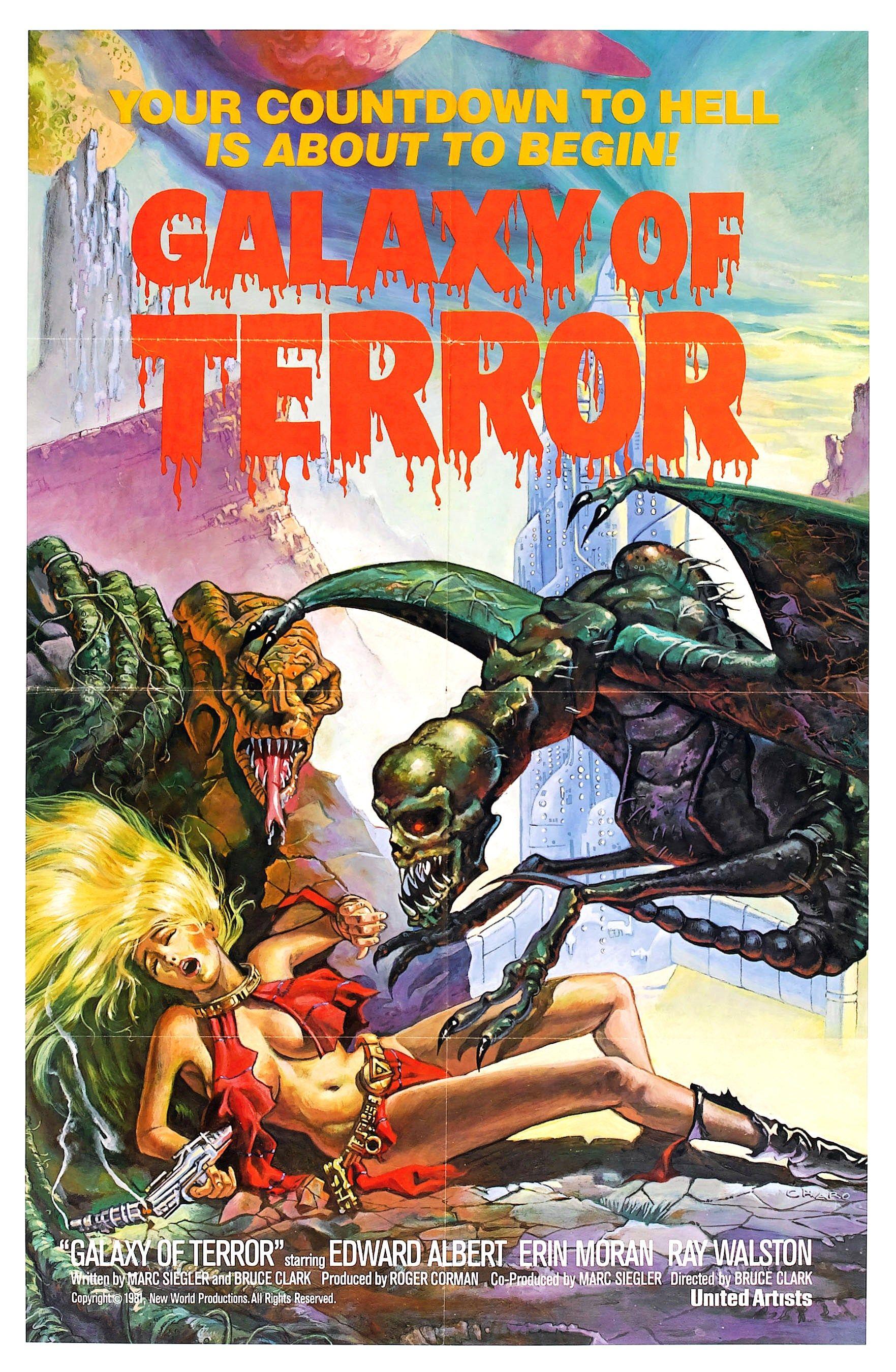 Galaxy of terror 1981 terror movies horror posters