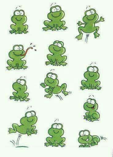 🐸🌿🐸 Frosch zeichnung Frosch illustration Lustige