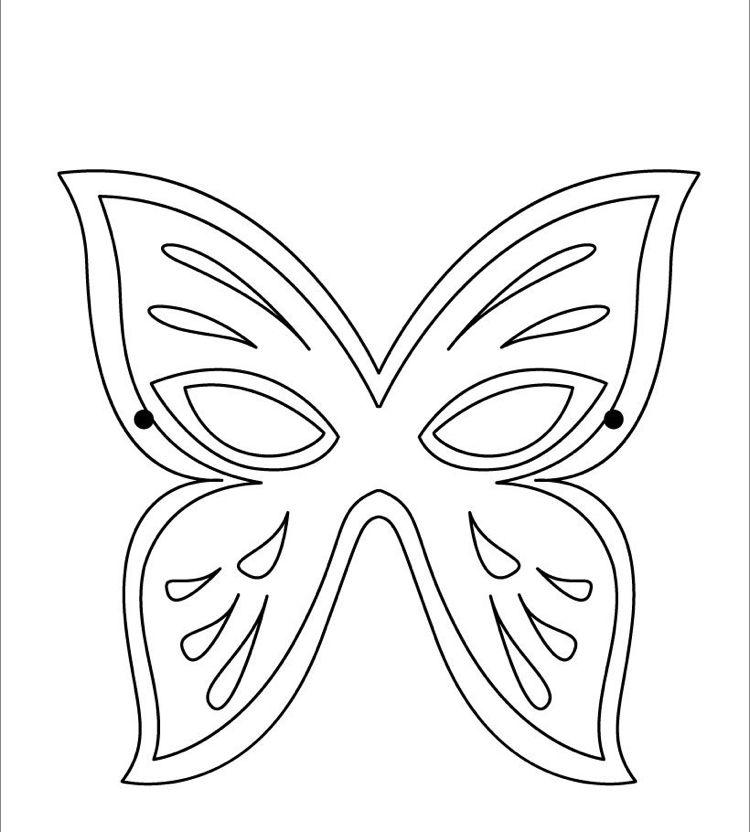 Faschingsmaske Schmetterling Ausmalen Children Print Carnival Schmetterling Ausmalen Kinderfarben Schmetterling Vorlage