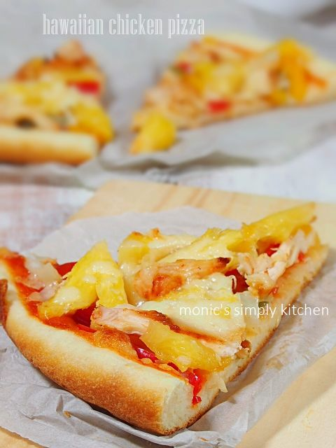 Resep Hawaiian Chicken Pizza Monic S Simply Kitchen Resep Makanan Resep Kue Makanan