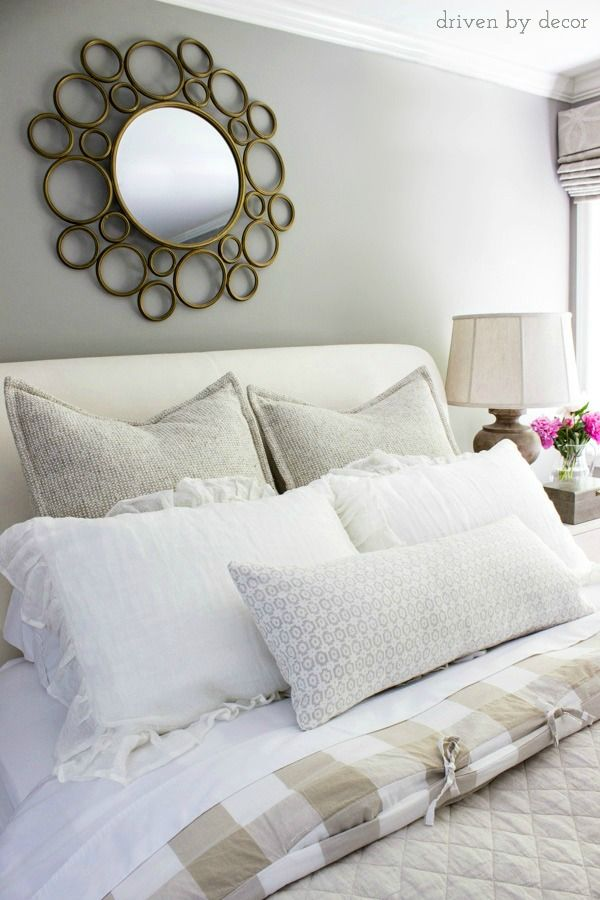 8 simple steps to making the perfect bed blogger home projects we love bed pillow. Black Bedroom Furniture Sets. Home Design Ideas
