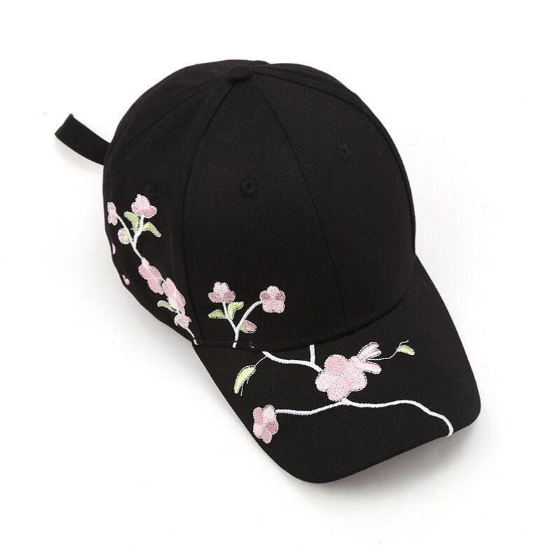289666224bc7f Seioum Women Summer Hats Symmetrical Flower Embroidery Built-in Insulation  Knitted Hats Femme Baseball Cap