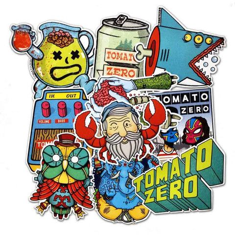 Tomatozero sticker pack a collection of cool stickers by fan favourite tomato zero from russia