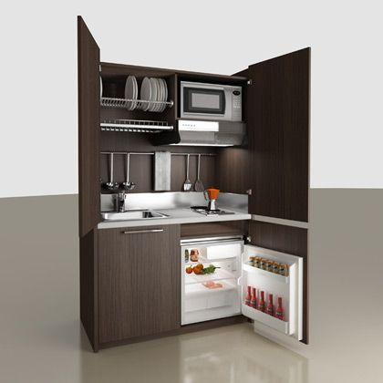 Minicocinas mobilspazio con puertas o persiana para for Cocinas super baratas
