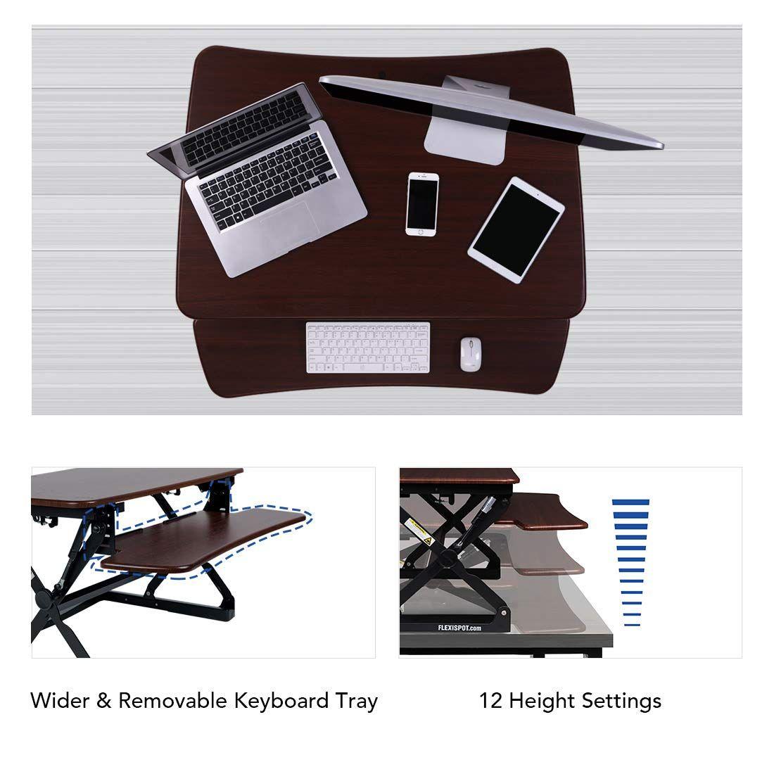 FlexiSpot M2RW Standing Desk 35 Inch Wide Platform