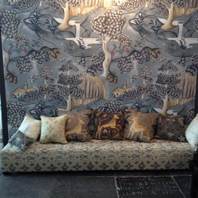 """zoffany \""""verdure\"""" lead blue colorway large scale mural ardenzoffany \""""verdure\"""" lead blue colorway large scale mural arden wallpaper 310430 zoffany lushpastorallandscape"""