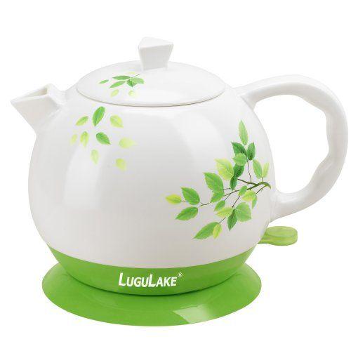 LuguLake Ceramic Teapot Electric Kettle Water Boiler 1300ML - http ...