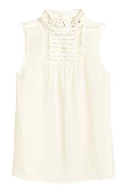 04960db4afd2 Blusa con detalles en macramé | ropa | Blusas, Blusas de gasa y ...