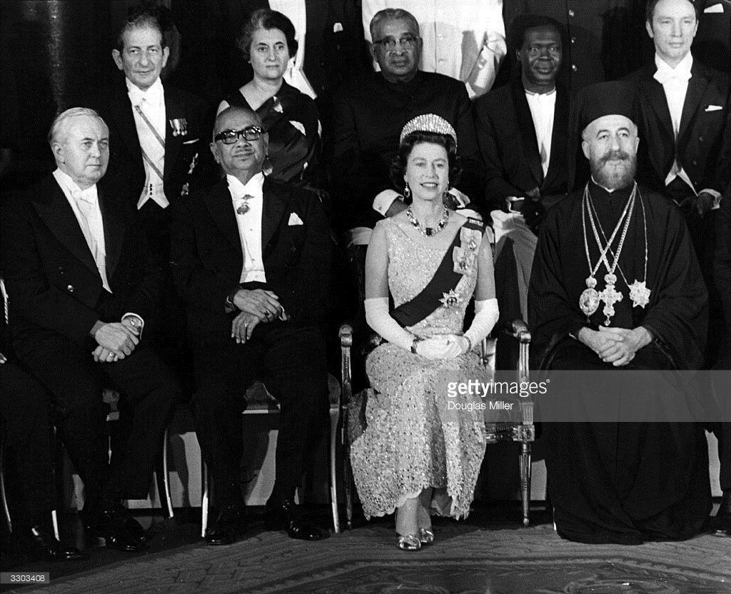 Commonwealth Heads   Tunku abdul rahman, Harold wilson and Indira gandhi