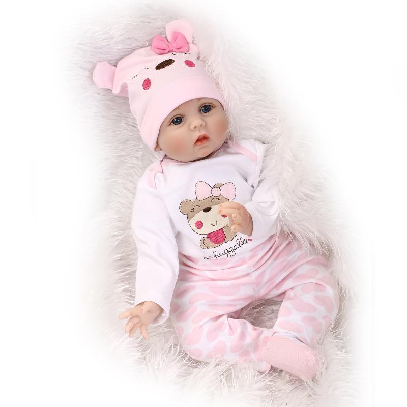 "Realistic Lifelike Handmade 22/"" Reborn Baby Dolls Soft Vinyl Newborn Girl Doll"