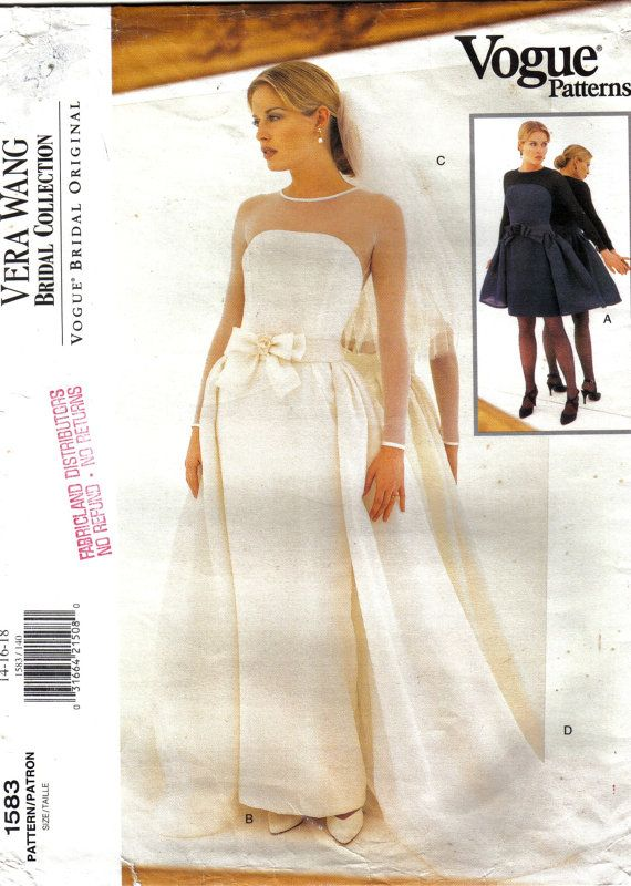Wedding Gown Bridal Gown Bridesmaid Vogue by stitchingbynumbers ...