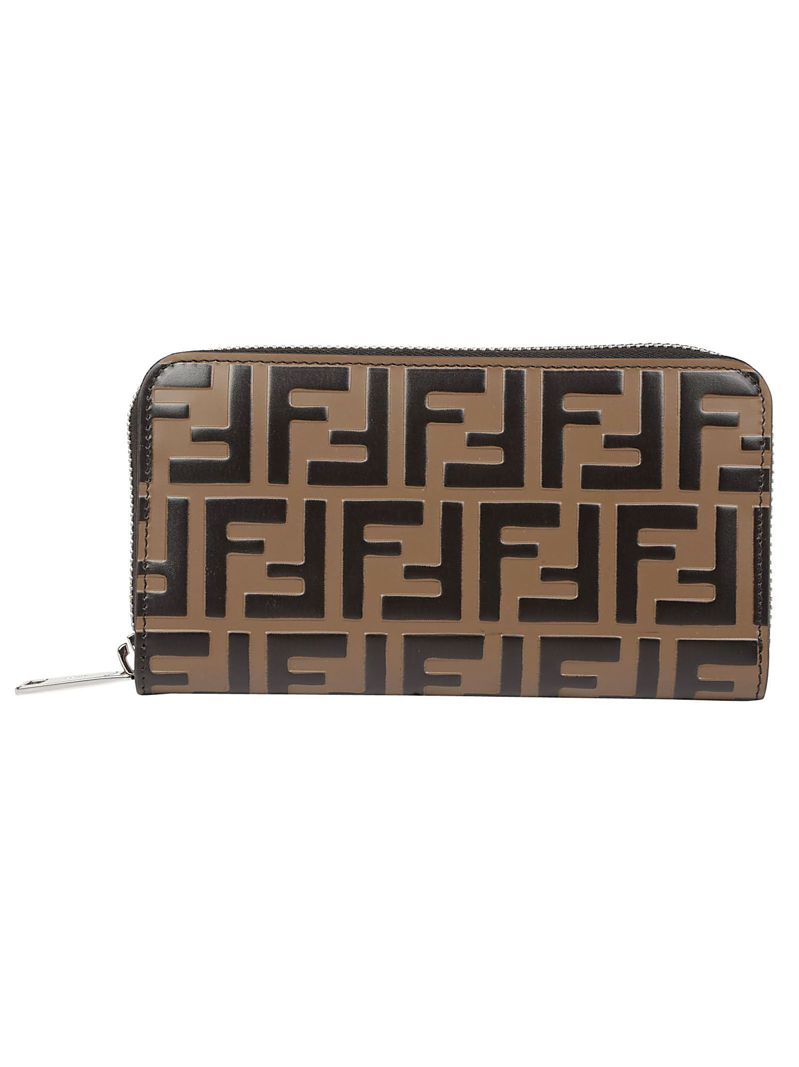 0822d21647 FENDI FENDI MONOGRAM ZIPPED WALLET.  fendi
