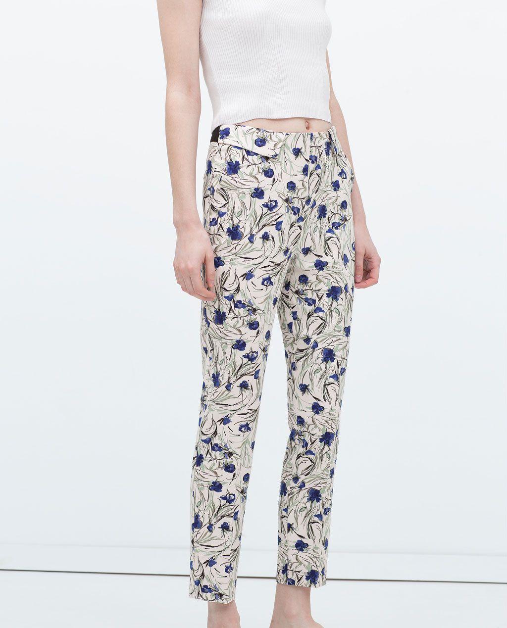 1cab6ca70e Damenhosen | ZARA Deutschland | print & pattern | Damenhosen, Hosen ...