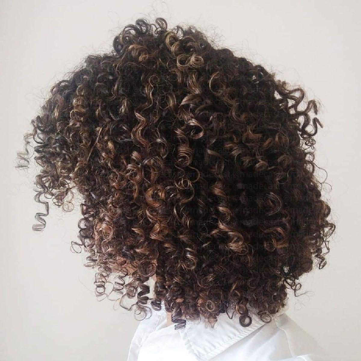 Curly Natural Hair Highlights Natural Hair Highlights Natural Hair Styles Curly Hair Styles Naturally