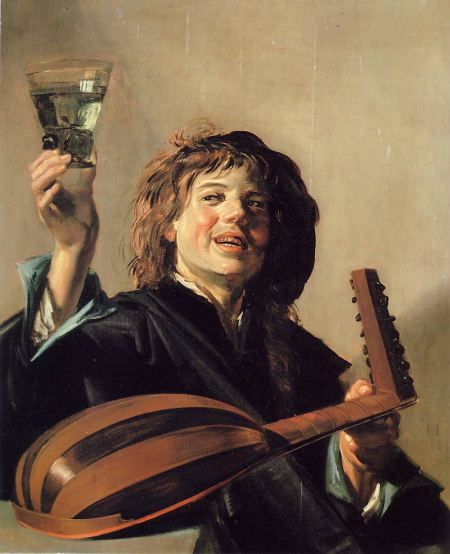 Franz Hals, Lute player with wine glass, 1626
