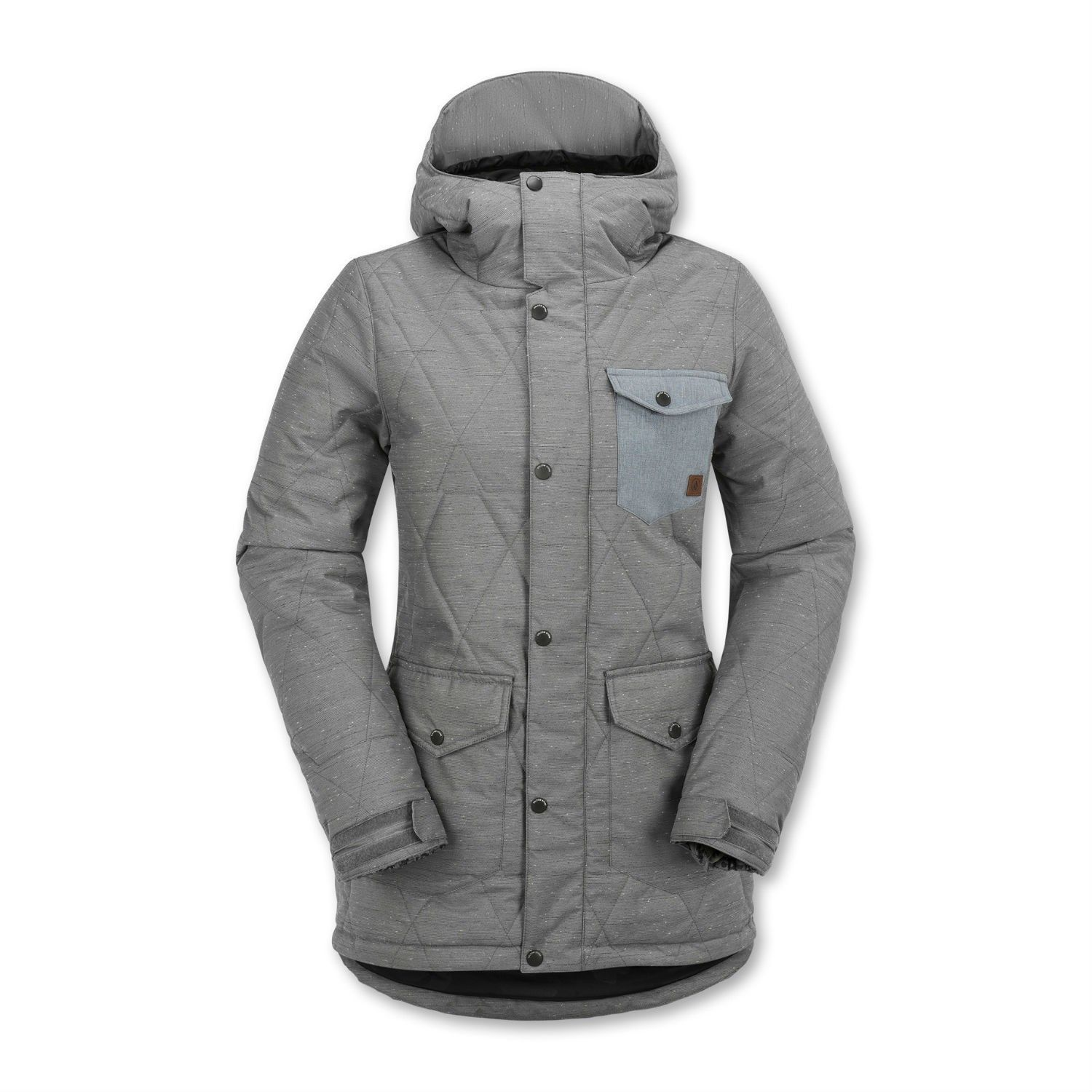 Super Warm With 120g Of Quilted Low Loft Insulation The 2016 Volcom Bridge Insulated Women Rsquo S With Images Insulated Jackets Jackets For Women Womens Snowboard Jacket