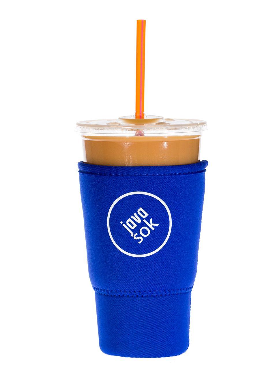 Iced Coffee Sleeve for Dunkin & Starbucks Cups | Java Sok Large Blue