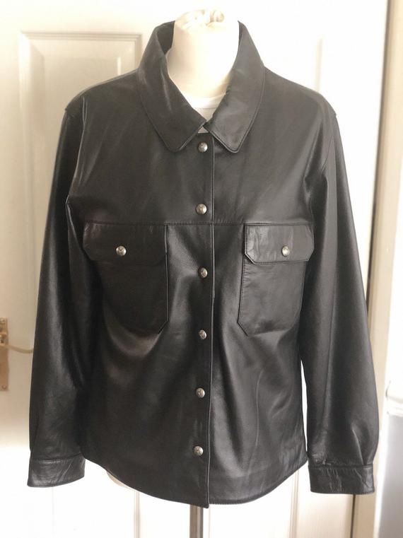 Vintage women's Harley Davidson Leather Motorcycle Motorbike Shirt Jacket – Medium