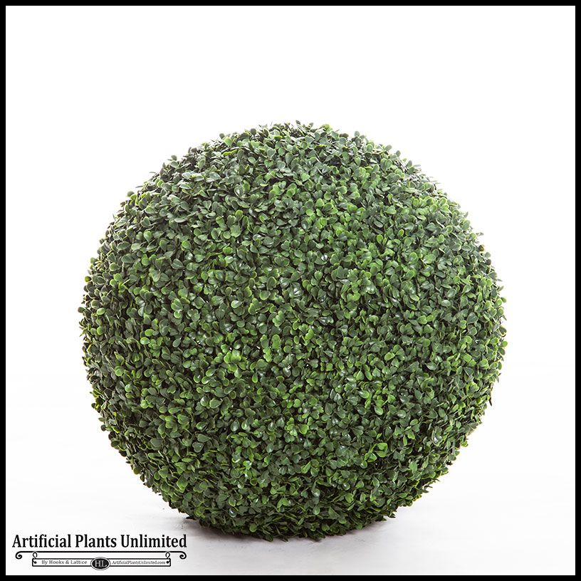 24in Outdoor Boxwood Topiary Ball 451 85 Small Artificial Plants Artificial Plants Artificial Garden Plants