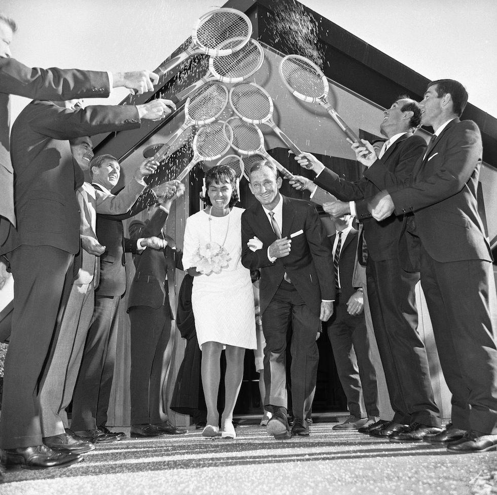 Rod Laver   Mary Benson - 1966 Wedding Day at at St Luke Presbyterian  Church in San Rafael d188cdf4ea