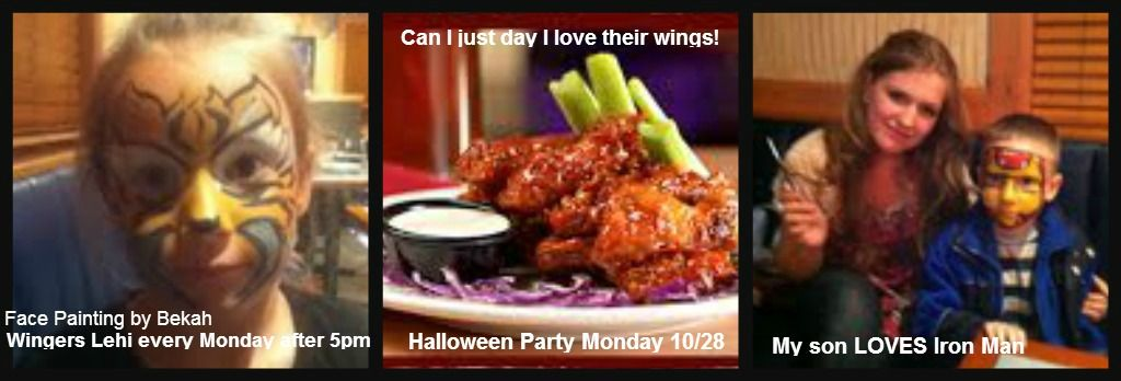 Who doesn't love wings and a good face painting? Wingers