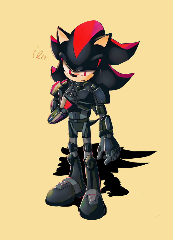Shadow The Hedgehog In Armor Shadow The Hedgehog Sonic Fan Art Sonic Fan Characters