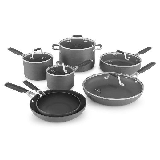 Select By Calphalon 12 Piece Hard Anodized Non Stick Cookware Set