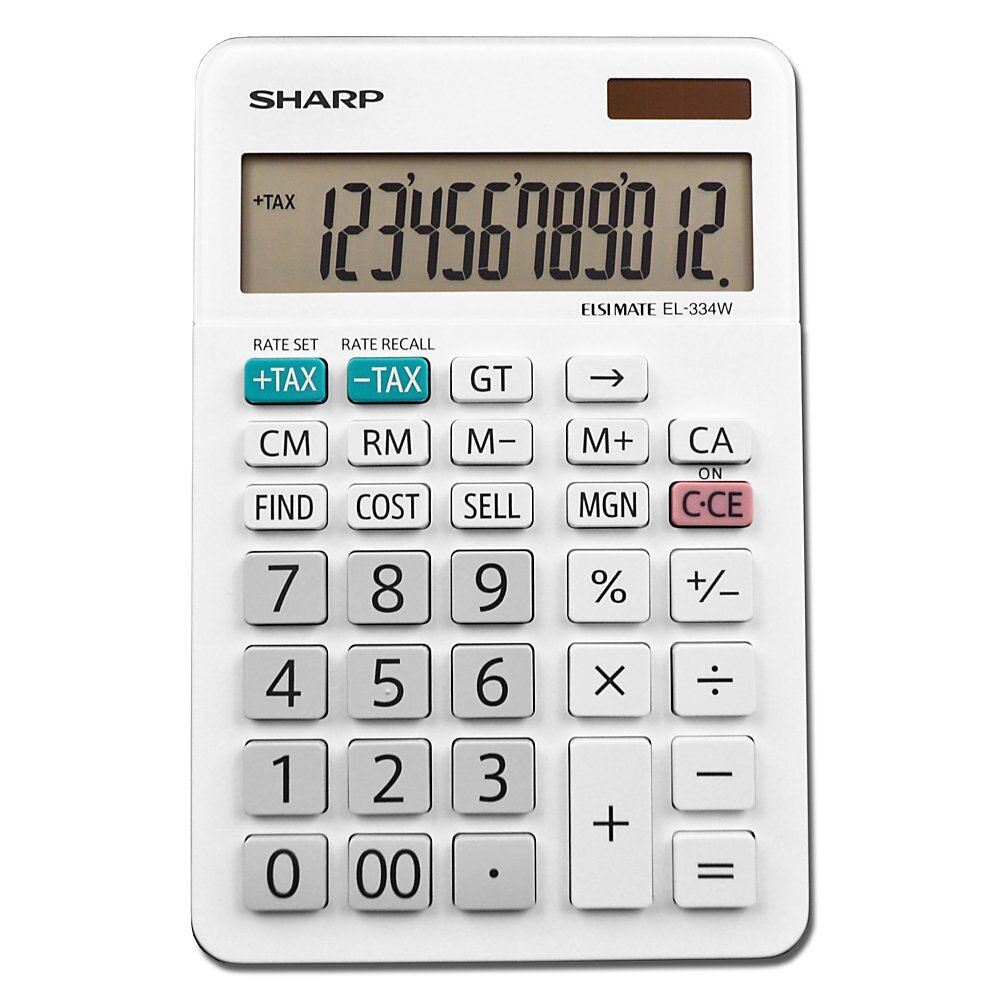 Sharp White Series Desktop Calculator El 334wb Item 693674 With Images Desktop Calculator Business Calculators Calculator