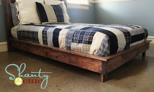 Pb Teen Inspired Platform Bed Diy Furniture Pinterest Bed Diy
