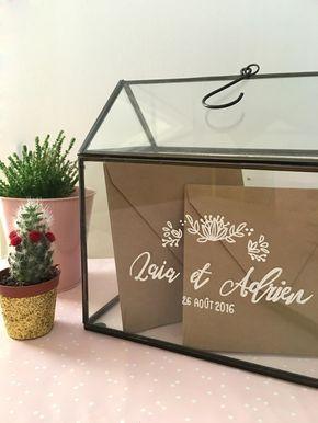 decoration urne mariage diy serre verre kraft naturel boheme champetre vintage mydayandco. Black Bedroom Furniture Sets. Home Design Ideas
