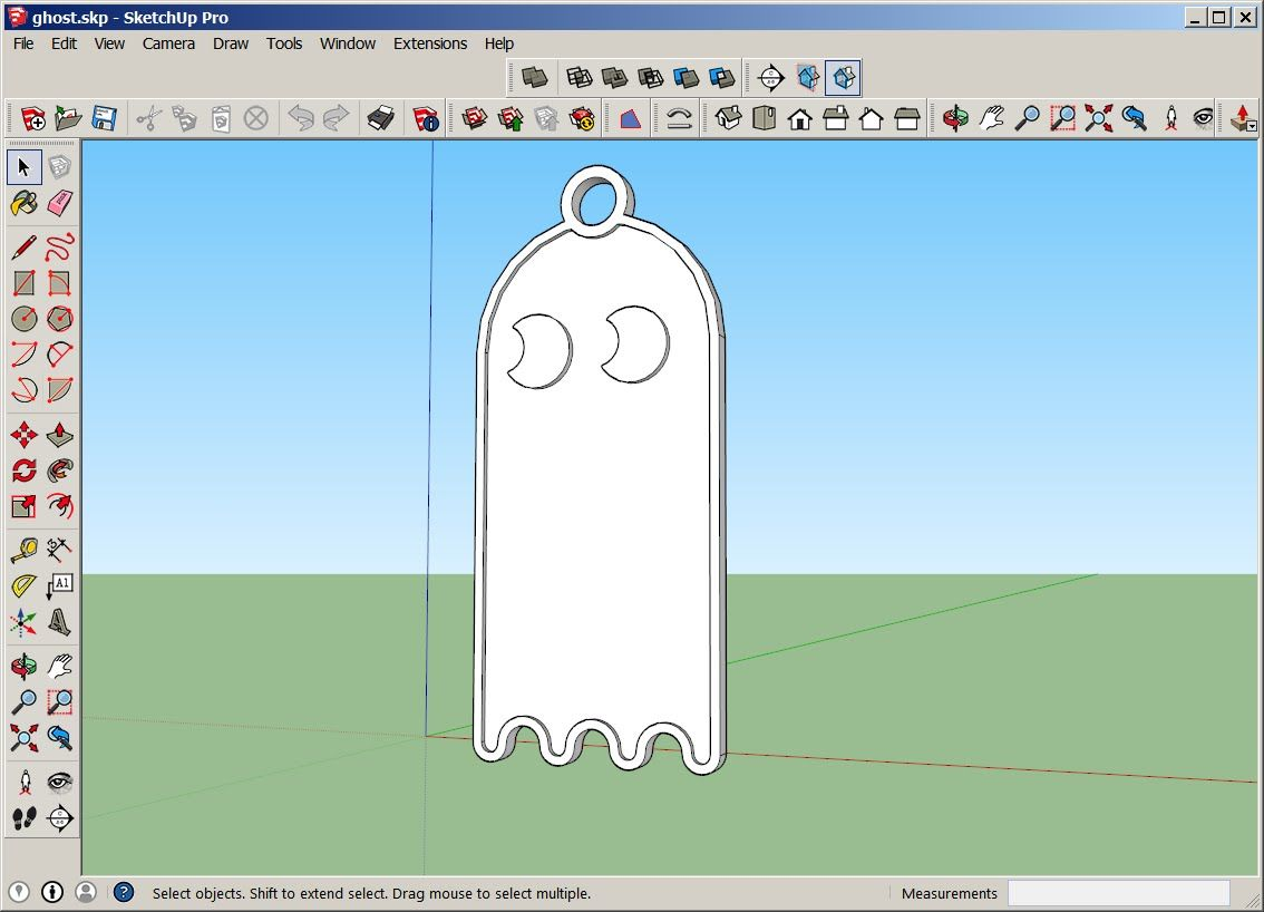 Sketchup Pacman Ornament With Solid Tools And Make Face Plugin