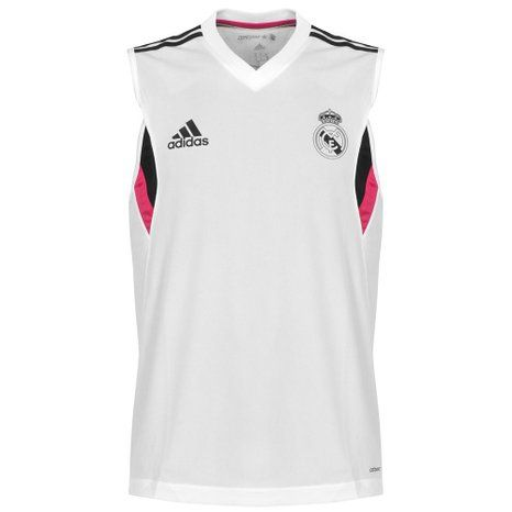 Real Madrid Sleeveless Training Jersey 2014 / 2015 - White